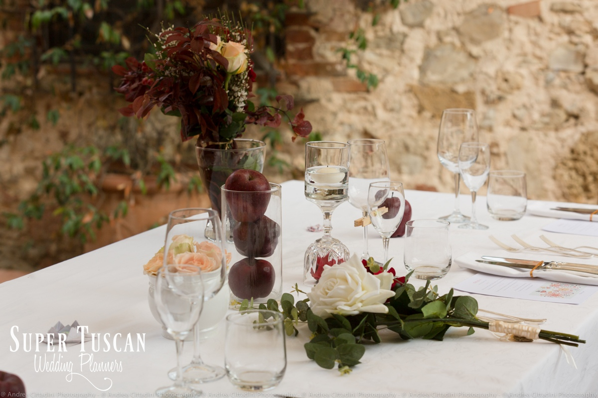174Vintage marsala Wedding in tuscany