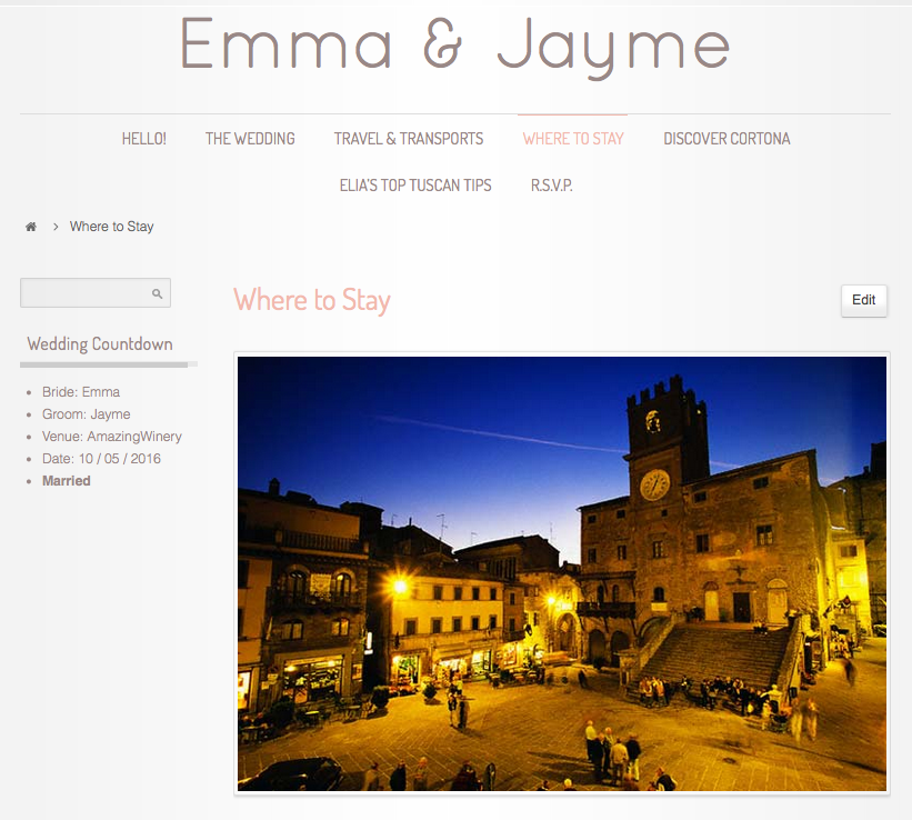 Tuscan Wedding Website Super Tuscan Wedding Planners 0