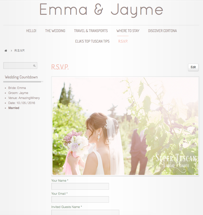 Tuscan Wedding Website Super Tuscan Wedding Planners 2