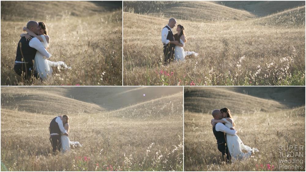 Tuscan real wedding