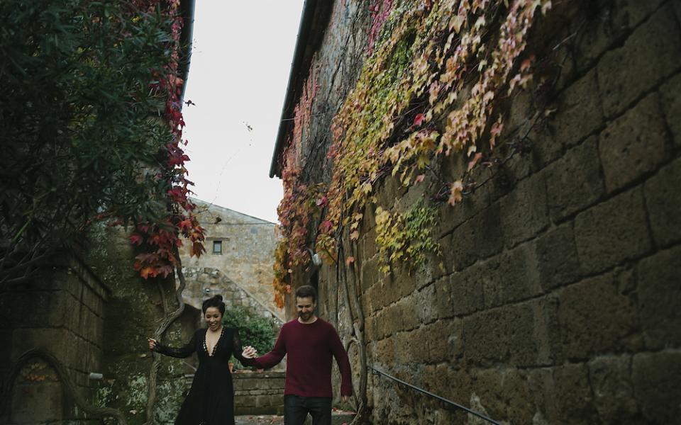 21Autumn engagement in Umbria